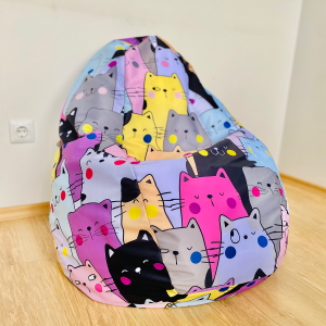 "Пуф с форма смокиня ""Котки"" + подарък селфи рамка ""Snappy"""